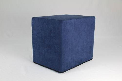 Fränkische Schlafmanufaktur Stufenlagerungswürfel, Bandscheibenwürfel, Lagerungswürfel, mit Microfaserbezug, ca. 50x45x40 Farbe Blau