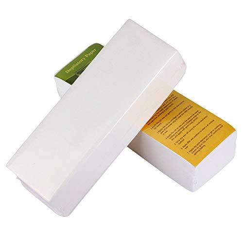 Allbestaye 100 Paper Waxing Strips Wax Papers Leg Body Bikini Face Haarentfernung Depilation Wachsstreifen