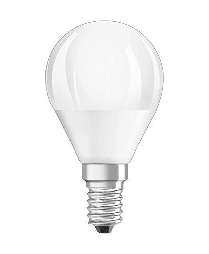 Osram LED STAR Ampoule LED, Forme sphérique, Culot E14, Equivalent 5,7 W=40 Watt, Matt, 2700K, Lot de 6 pièces