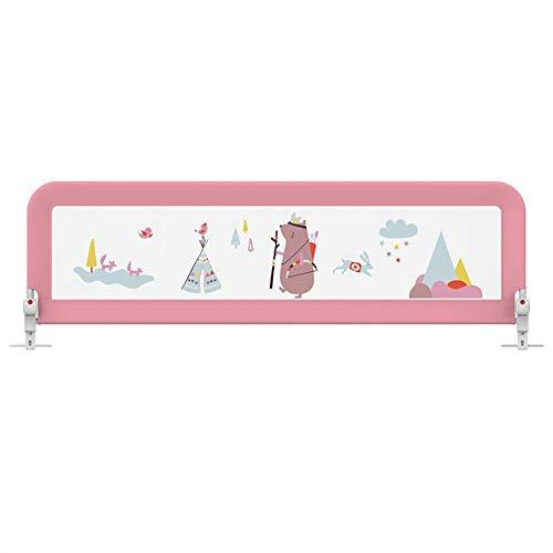 Barrières de lit de bébé Rose, Grande barrière de sécurité portative Pliante pour barrière de sécurité pour Enfants en Bas âge/Enfants, 1,5-2 m (Taille : 1.8m)