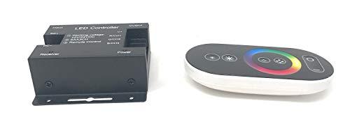 Pianeta LED- Controlador multizona de cinta LED, RGB y mando a distancia táctil, 12/24 V