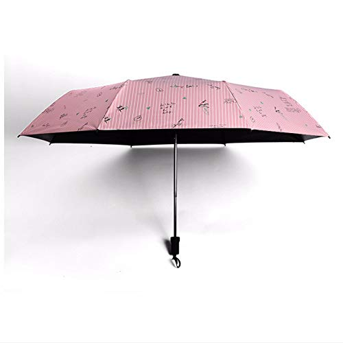 Streep woorden draagbare paraplu regen vrouwen zakparaplu vrouwelijk Sunny Parasol mooie parasol mini zakparasol vrije scheep, 002