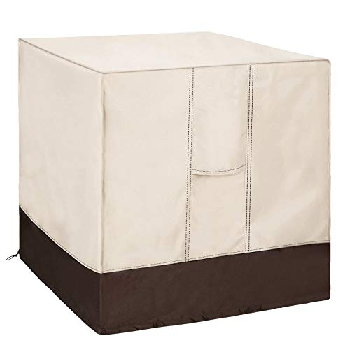 Qualward Air Conditioner Cover for Outside Units, AC Cover for Outdoor Central Unit Heavy Duty Water-Resistant Design - Square Fits up to 36 x 36 x 39 Inches