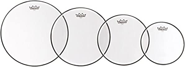 Remo Emperor 4-Piece Tom Pack - 10 12 14 16 Inches - Clear