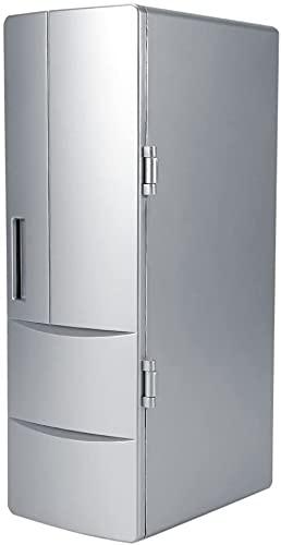 JZTOL Mini Refrigerador Refrigerador Y Más Cálido, Nevera Personal Compacta Portátil, AC/DC Y Exclusivo USB Opción, 100% Freon-Free Eco Friendly para El Hogar, Oficina Y Coche