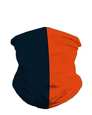 INTO THE AM Dark Navy & Orange Sports Fan Mask Bandana