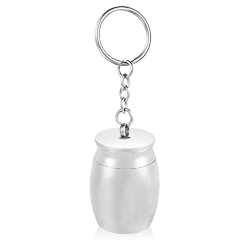 ZYLL Free Engraving Custom Date Name Memorial Cremation Urn Keychain Funeral Keepsake Ashes Jewelry