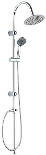 DP Grifería, modelo Calcita - Set de ducha económico (ABS) color plateado