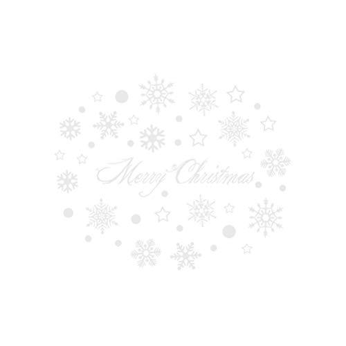 VOSAREA Schneeflocke Fensteraufkleber Weihnachten Wandtattoo Fensterbilder Fensterdeko Merry Christmas