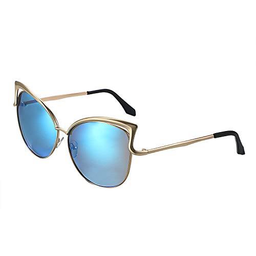 Aroncent Damen Sonnenbrille Auge Katze Outdoor polarisiert Anti-UV 400,Farbe wählbar blau