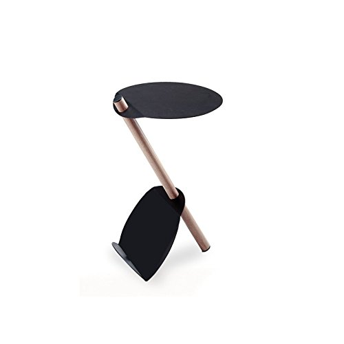 TxT Tavolino portariviste Zeta in metallo e legno di Maiuguali dim. 30 x h 54 cm