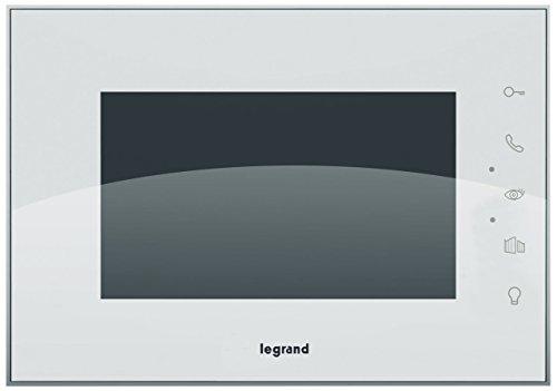 Legrand Videoportero 369235, Monitor Vídeoportero, Intercomunicador, interior, 7pulgadas, Monitor en color, Táctil, Manos libres , ampliar (369220) para 2de familia hogar, Blanco