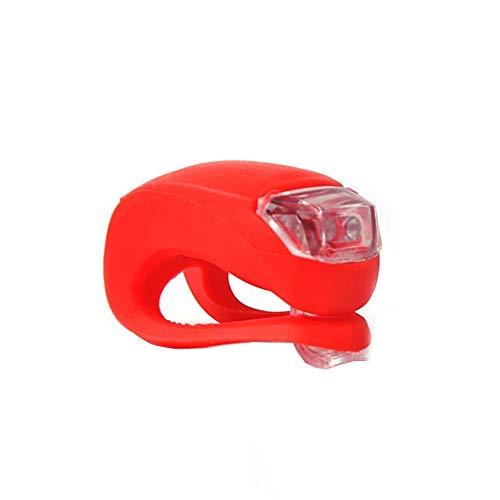 1pc Luces De La Bicicleta De La Bici Juego De Luces Led Brillantes De Silicona Impermeable Ciclismo Luces Y Reflectores Frente De La Bicicleta Luz Trasera De La Lámpara Linterna De Ciclo Del Flash Del