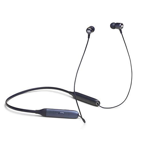 JBL Live 220BT kabellose In-Ear Kopfhörer - Bluetooth Ohrhörer mit 4-Tasten-Fernbedienung, Nackenbügel, Mikrofon und Alexa-Integration - Unterwegs telefonieren und Musik hören Blau