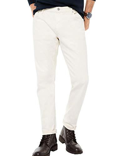 Michael Kors Mens Classic Fit Parker Selvedge Jeans 36 x 32 Ecru