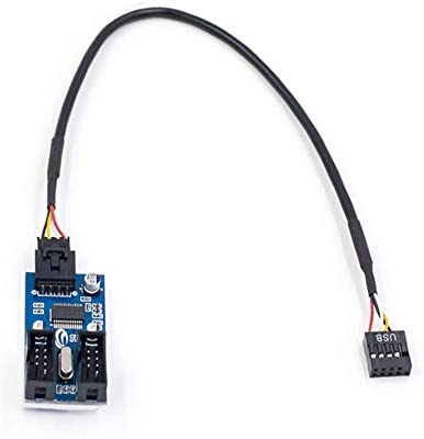 RGEEK 9pin USB Header Male 1 to 2 Female Extension Cable Card Motherboard 9 Pin USB HUB USB product image