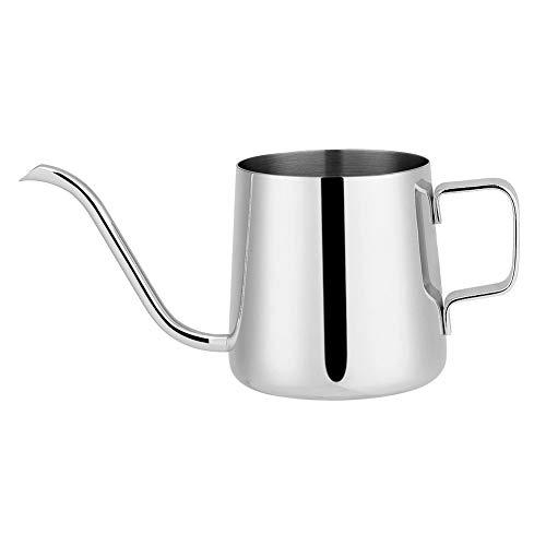 250ml/350ml roestvrijstalen koffiepot, zwanenhals waterkoker druppelen koffie thuis keuken accessoires (250ML-zilver)