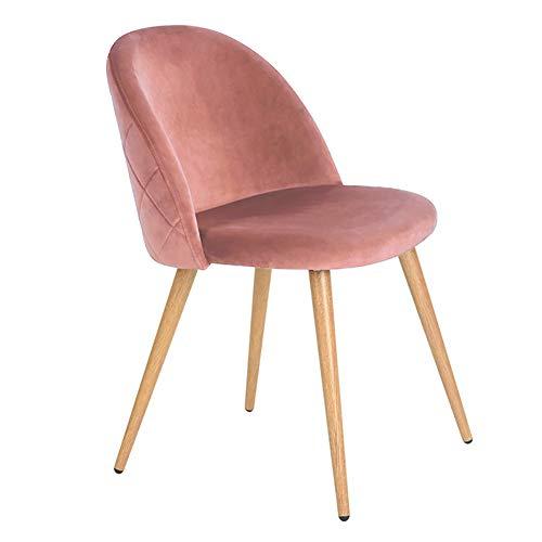 Tukailai - set di 2 sedie imbottite per sala da pranzo e cucina, ufficio, salotto, sala riunioni, tavolo da pranzo, stile rétro