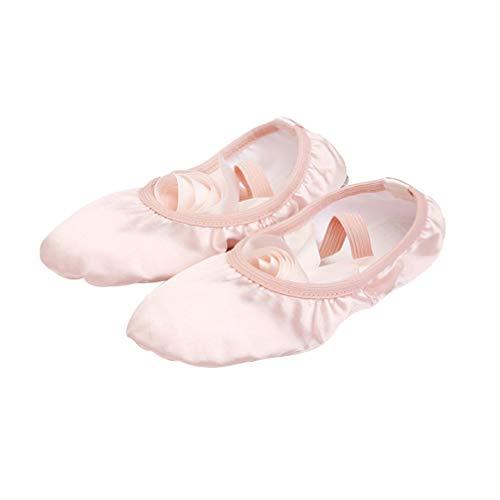 LIOOBO Zapatos de Baile de Ballet para Niñas Zapatos de Práctica Zapatillas...