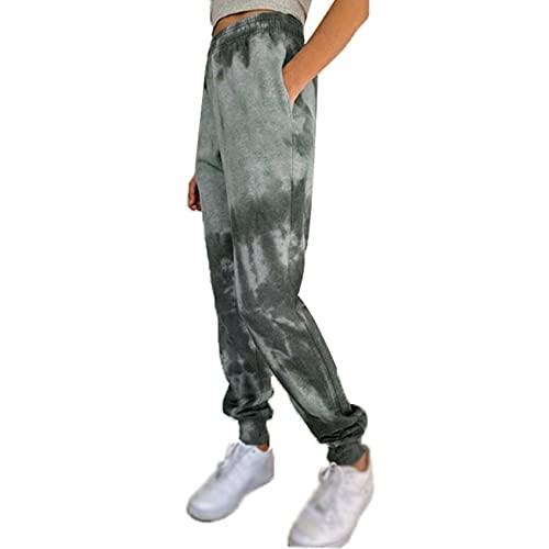 Autunno E Inverno Moda Casual Donna Multicolore Stampa Tie-Dye Pantaloni Casual Lanterna A Piedi Piccoli