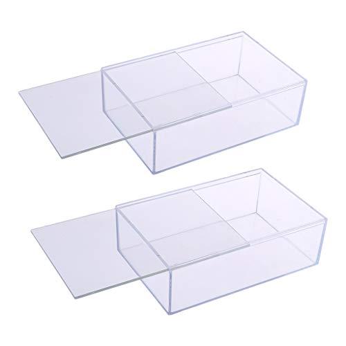 F Fityle Vitrina de Acrílico 2X para Accesorios de Figuras de Coches Modelo Transparente, 17x11x5.5cm