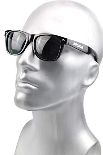 Sonnenbrille Simson Logo - Schwarz - UV 400 - beidseitig Bedruckt