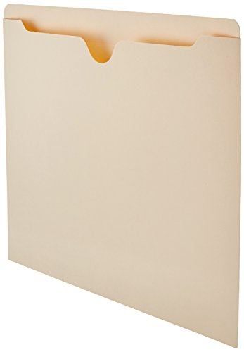 AmazonBasics File Folders Jacket, Reinforced Straight-Cut Tab, Flat-No Expansion, Letter Size, Manila, 100-Pack - AMZ600