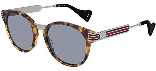 Gucci Gafas de sol GG0586S 004 Gafas de sol hombre color Azul Habana tamaño de lente 50 mm