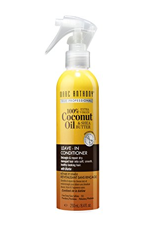 Marc Anthony Coconut Oil & Shea Butter Leave In Deep Conditioner for Breakage & Frizz – Biotin & Keratin Heat Protectant Spray & Detangler for Added Shine -Color Safe Product For Fine Dry Damaged Hair