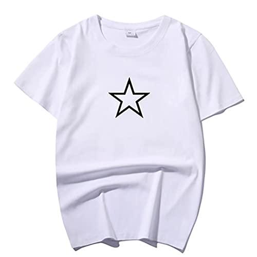 Camiseta de juego de calamar Cosplay de Halloween Custome Triángulo de manga corta, patrón de estrella redonda Top estampado Camiseta deportiva informal Camiseta de para adolescentes Hombres Mujeres