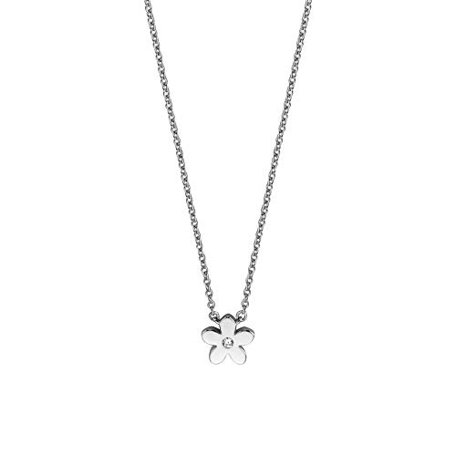Esprit ESNL01071142 Damen Collier Blume Bloom Sterling-Silber 925 Silber 45 cm
