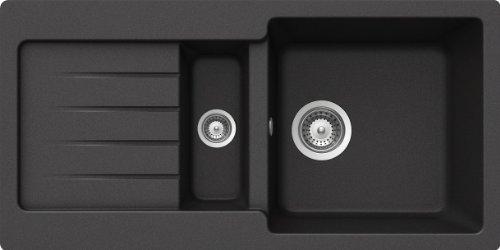 Schock Spüle TYPD150SUGNE Typos D-150S Unterbau, nero