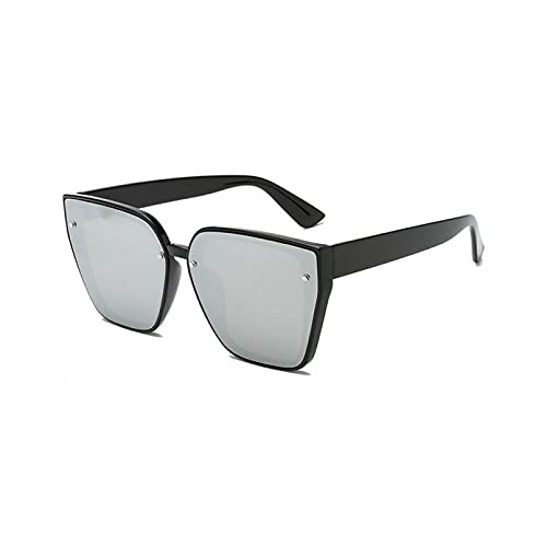 KUNIUO Gafas De Montura Grande Dispositivo De Fijación RedEstiloRojoGafas De Sol De Cara Delgada Cuadrado Retro-02