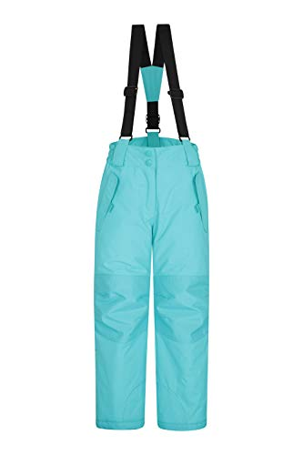 Mountain Warehouse Honey Kids Snow Pants Snowproof Childrens Trousers Snow Gaiters For Winter Sports Skiing Holidays Snowboarding Teal 5 6 Years