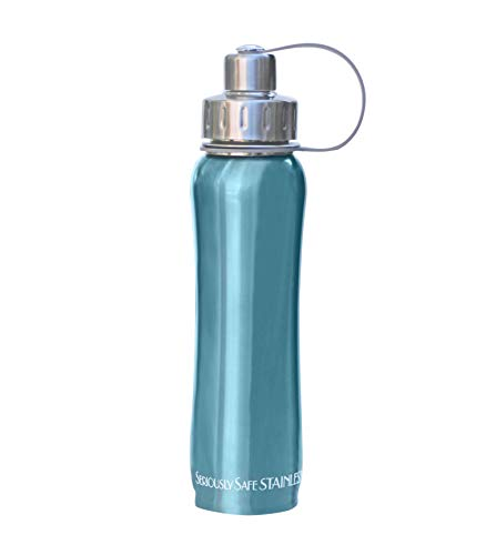 New Wave Enviro Double Wall Insulated Hot/Cold Stainless Steel Bottle (Metallic, 600ml)