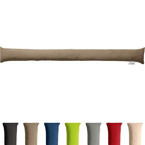 REDBEST Zugluftstopper - Türstopper - Windstopper - Luftzugstopper - Windschutz - für Fenster und Türen - Premium-Qualität - mit Beschwerung - Taupe - Größe 90x10 cm