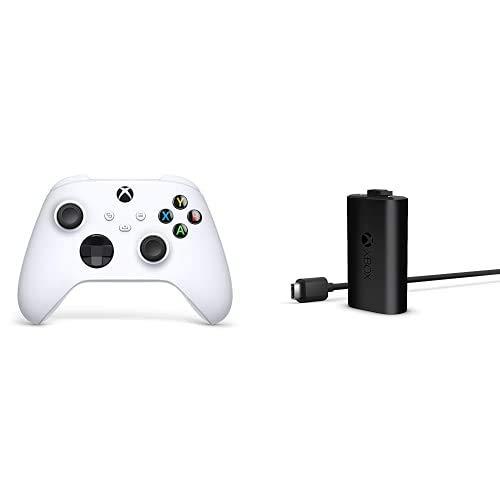 Xbox Wireless Controller Robot White + Xbox Play & Charge Kit M