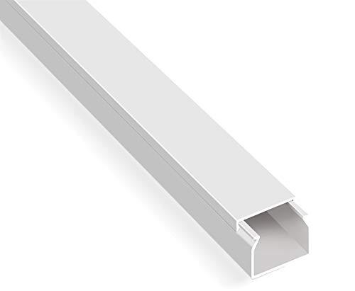 20m Kabelkanal Selbstklebend (25x25mm BxH, Weiß)