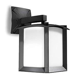 L/ámpara de pared para exteriores aluminio, pantalla difusora de cristal, aspecto oxidado color marr/ón OUTDOOR Leds C4 Alba