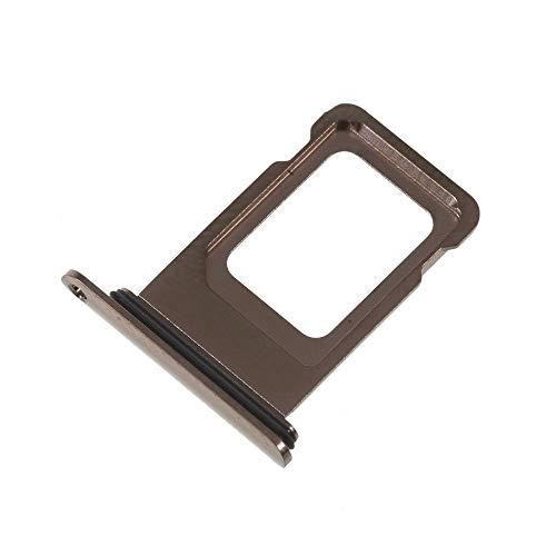 jbTec Dual SIM-Tray/Halter passend für Apple iPhone XS Max - Slot Karte Schlitten Rahmen Holder Handy Card Ersatz Fach, Farbe:Gold