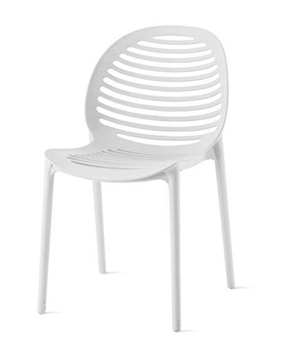 DCB GARDEN Olbia Chaise de Jardin, Blanc