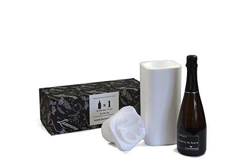 Lazenne Wijnfles beschermer en verzenddoos voor extra grote fles type Reserve Champagne Styrofoam
