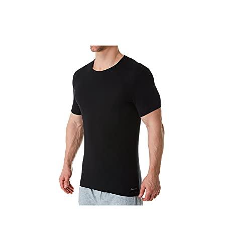 Calvin Klein Men s Ultra Soft Modal Crew Neck T-Shirts, Black, L