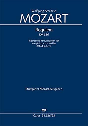 Requiem (Klavierauszug): ergänzt von Robert D. Levin KV 626, 1791/1991