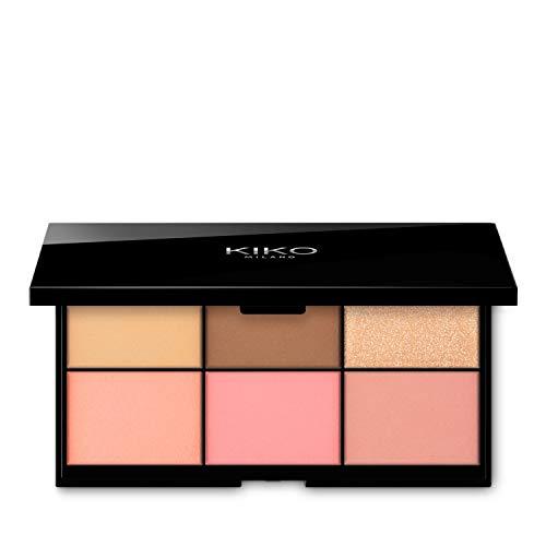 Kiko Milano Smart Essential Face Palette - 01 | Paleta con 6 Tipos de Polvos Faciales