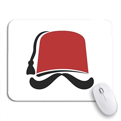N\A Tappetino per Mouse da Gioco Red Lebanon Fez Cappello Turco Tarboosh Turchia Cultura Istanbul Antiscivolo Supporto in Gomma Mousepad per Notebook Computer tappetini per Mouse