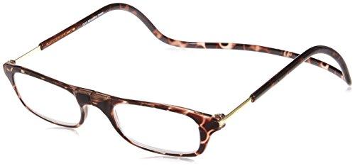 [クリックリーダー] 老眼鏡 Clic Readers メンズ ブラウン +2.50-(FREEサイズ)