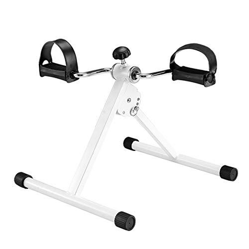 LGFV Mini Bicicleta Estática De Ejercicios Cardio Training Elaborar Y Rehabilitación para Personas Mayores Y Discapacitados,Blanco