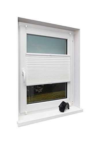 Beyond Drape kant-en-klaar plissé gespannen voor ramen zonder boren Crushed Look, polyester, wit, 100x130cm