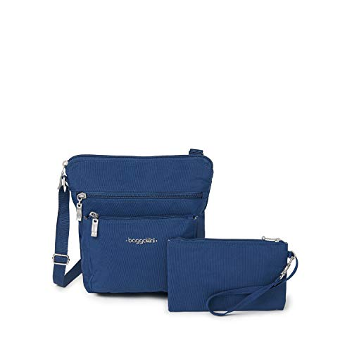 Baggallini Pocket Crossbody Bag With RFID-Protected Wristlet, Pacific